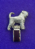 Dog Show Breed Ring Number Clip - Black Russian Terrier - FULL BODY Silver or Gold Style